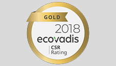 Rated with EcoVadis Gold