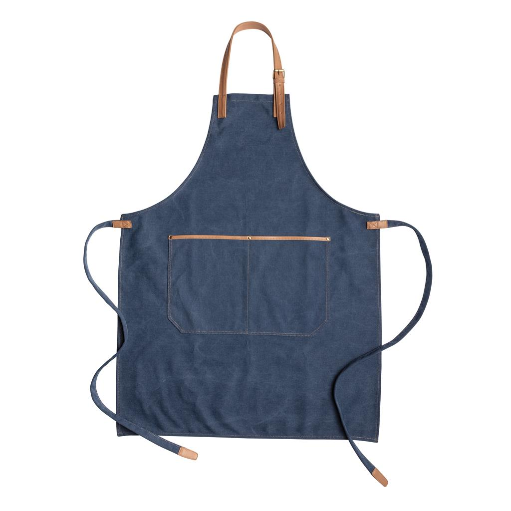 Deluxe canvas chef apron, blue   Xindao