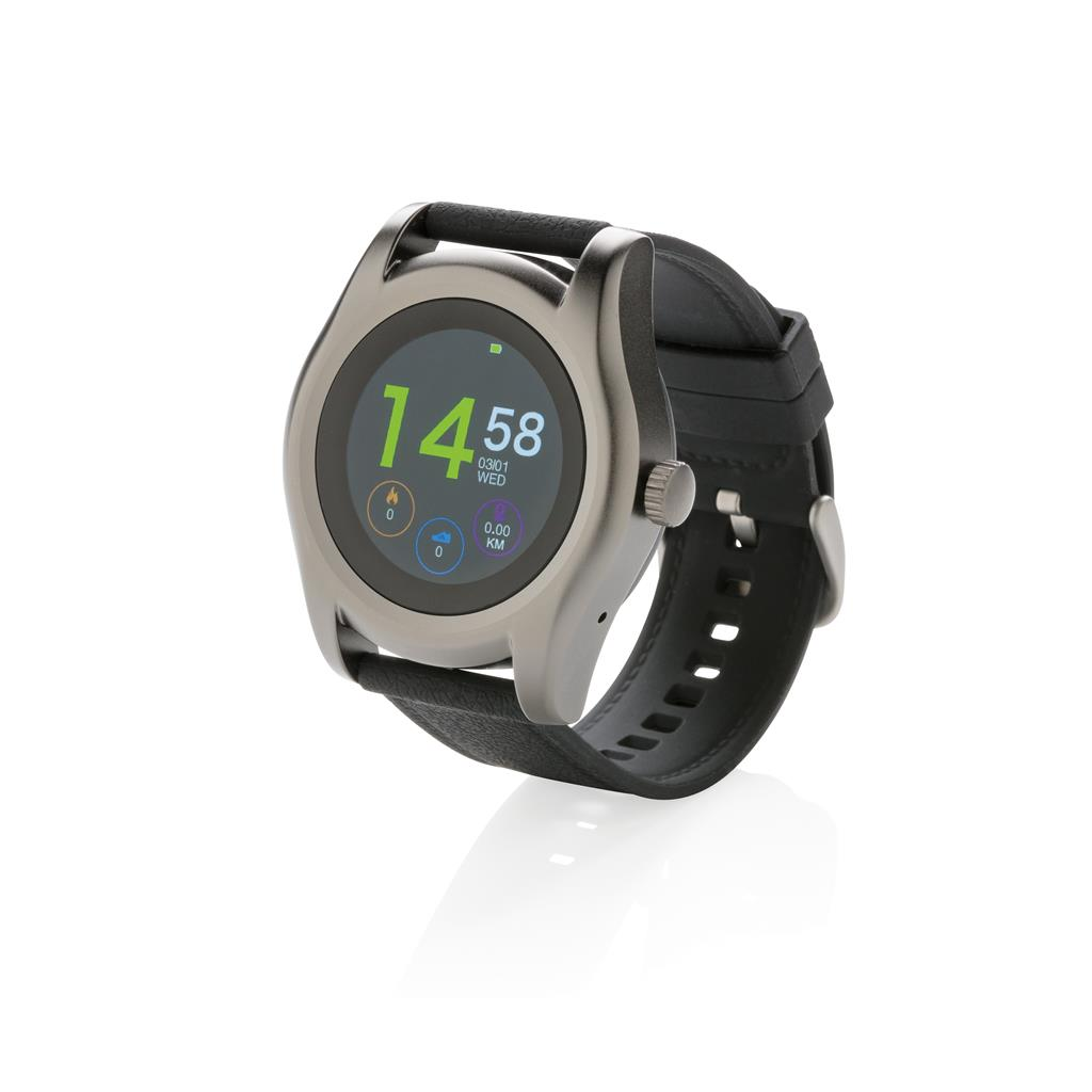 Swiss Peak smart watch, zwart
