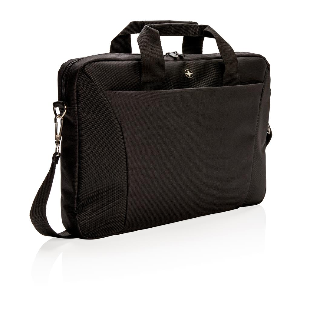 "Slim 15.4"" laptop tas, zwart"