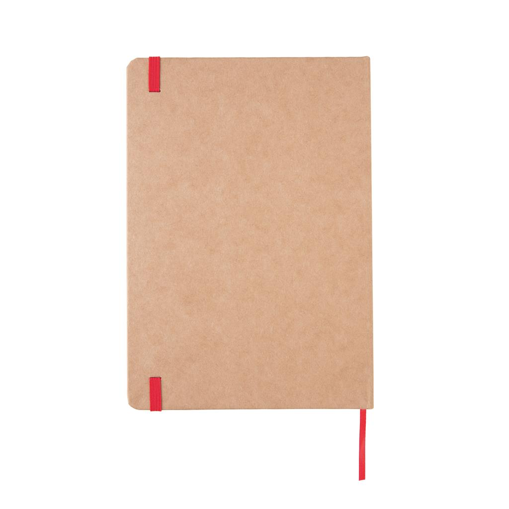A5 recycled kraft notitieboek, rood