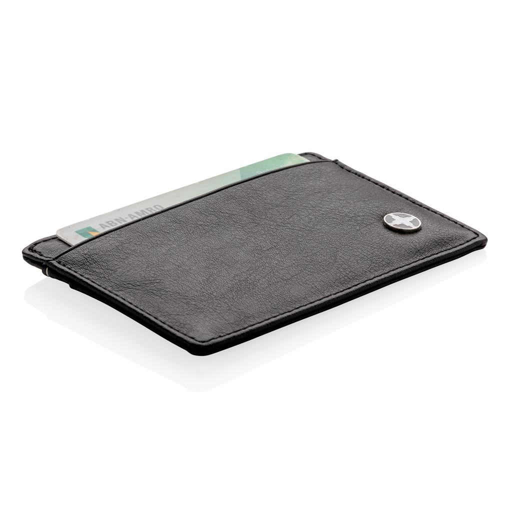 Swiss Peak RFID anti-skimming card holder, black